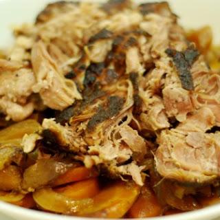 Slow Cooker Pork Shoulder Roast.