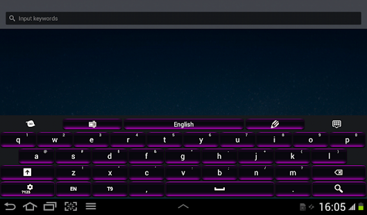Black and Purple Keyboard - screenshot thumbnail