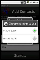 Screenshot of SMS/Text Msg Location Sharer