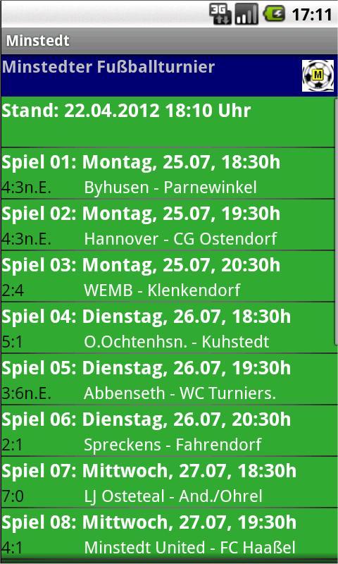 Minstedter Fußballturnier- screenshot