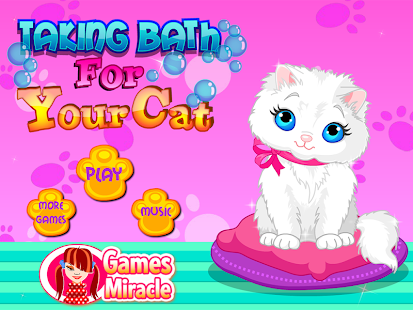 cat bathing games baby cat bath care apk for kindle 10155
