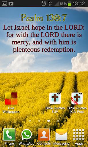 Bible Quote KJV Live Wallpaper