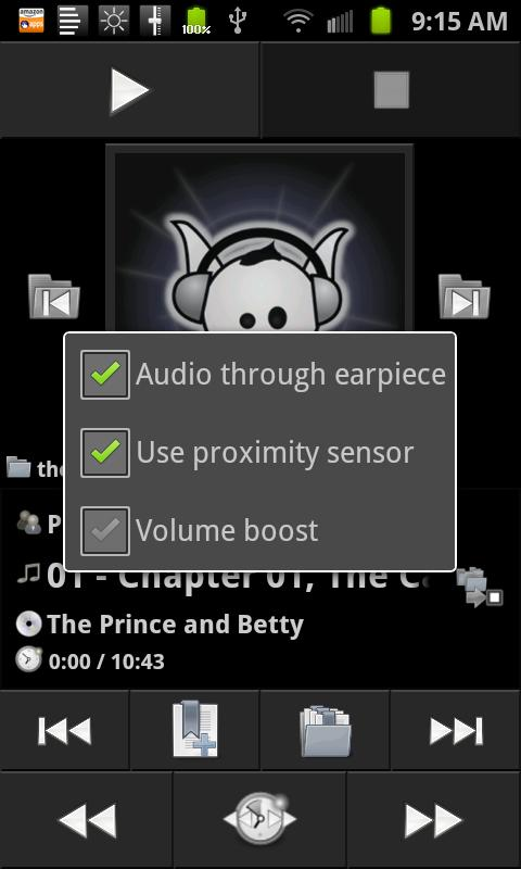 Earpiece - screenshot