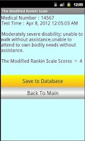 Screenshot of Modified Rankin Stroke scale