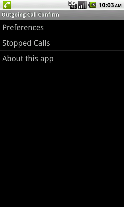 Hands-Free Call Confirm - screenshot