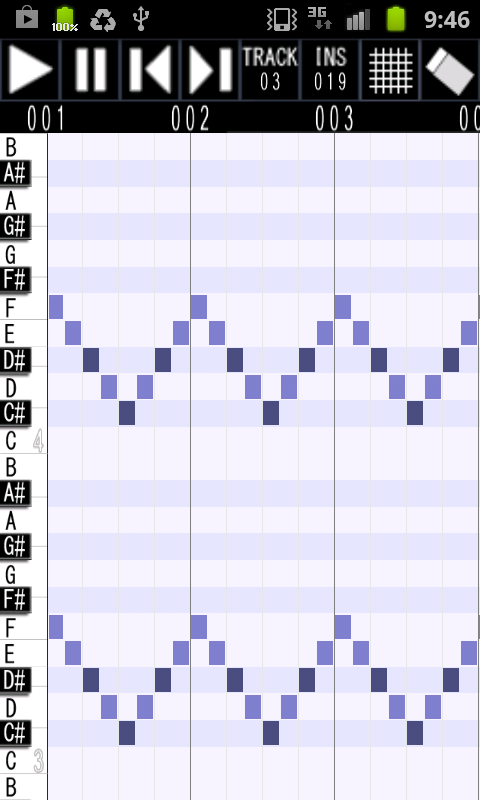 Palmidi Lite (MIDI Sequencer) - screenshot
