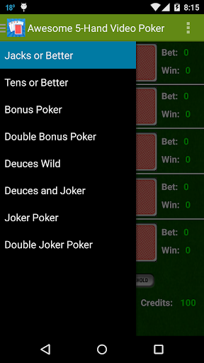 Awesome 5-Hand Video Poker