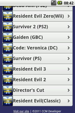 Resident Evil All Cheats Free - screenshot