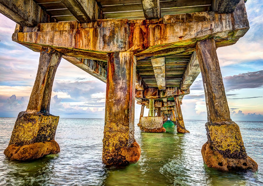 Under the Pier by Alexis Travkin - Buildings & Architecture Bridges & Suspended Structures ( bridge,  )