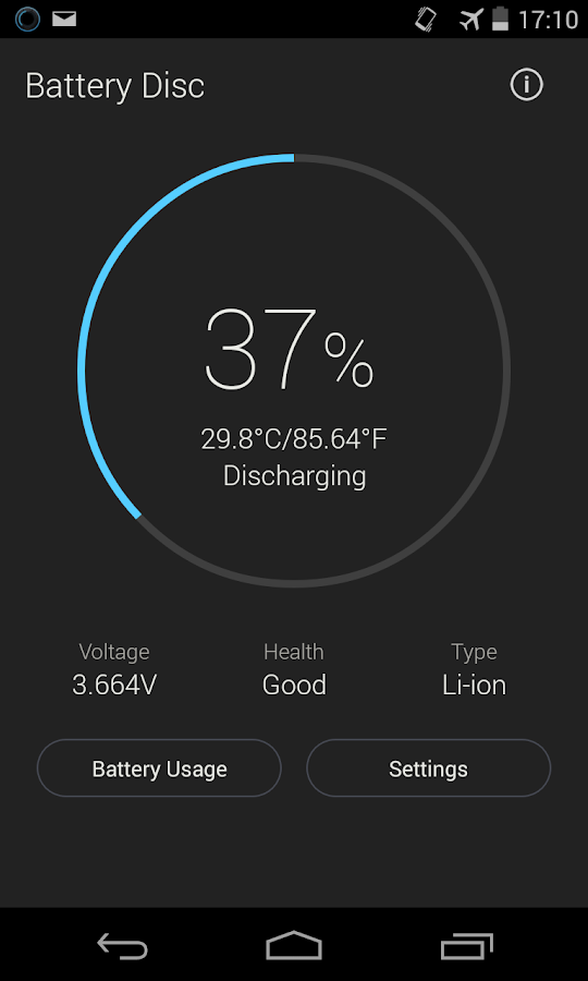 Beautiful Battery Disc - screenshot