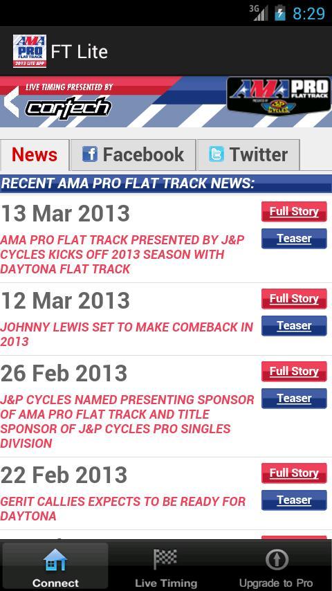 AMA Pro Flat Track Lite - screenshot