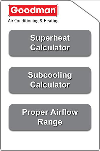 Goodman Superheat Calculator