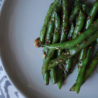 Asian Garlic Green Beans.