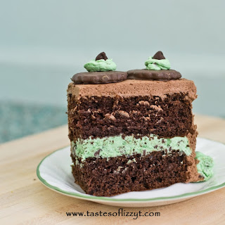 Grasshopper Mint Chocolate Chip Layer Cake.