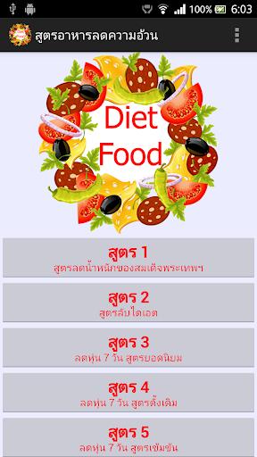 สูตรอาหารลดความอ้วน Diet Food