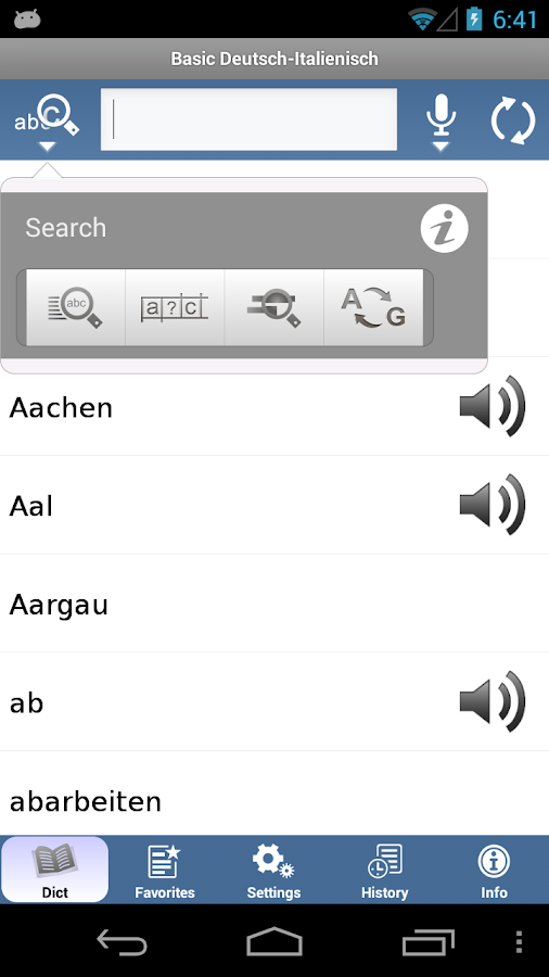 Italian - German Translator Dictionary Basic- screenshot