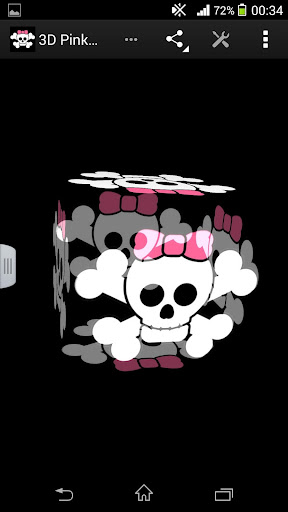 3D Pink Skull LWP