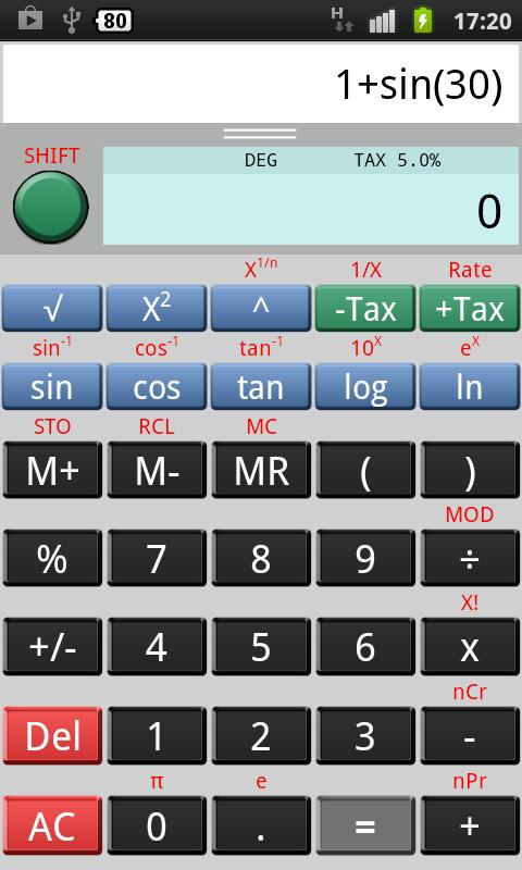 CalcPad Lite Calculator- screenshot