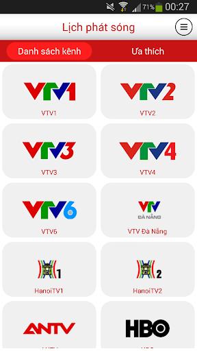 Lịch phát sóng TV Việt Nam