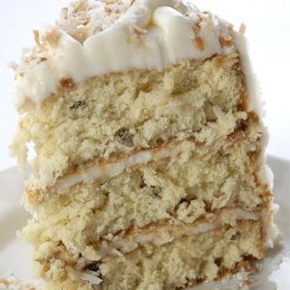 Decadent Italian Cream Cake.