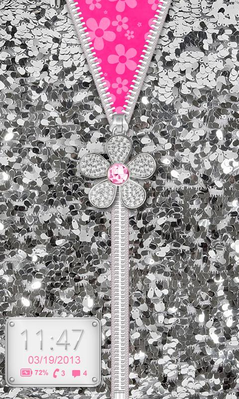 ♥ Flower Zipper Lock Screen ♥ - screenshot