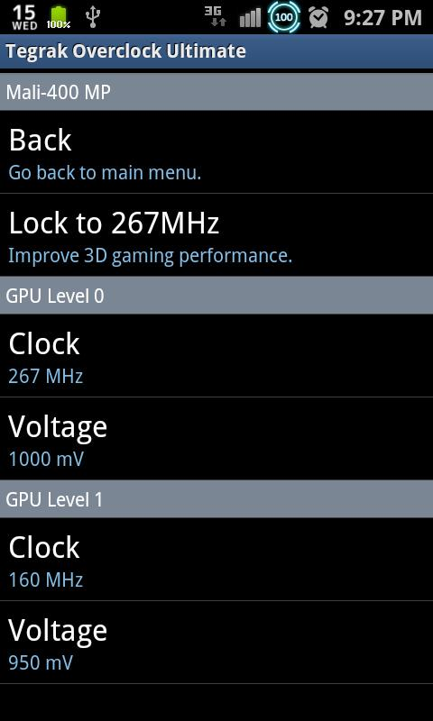 Tegrak Overclock Ultimate- screenshot