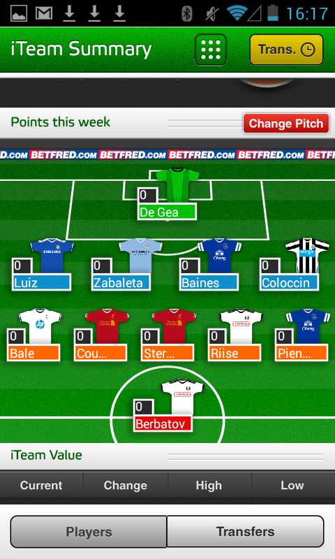 Fantasy iTeam 13/14 - screenshot