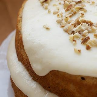 Pecan Layer Cake with Banana Icing