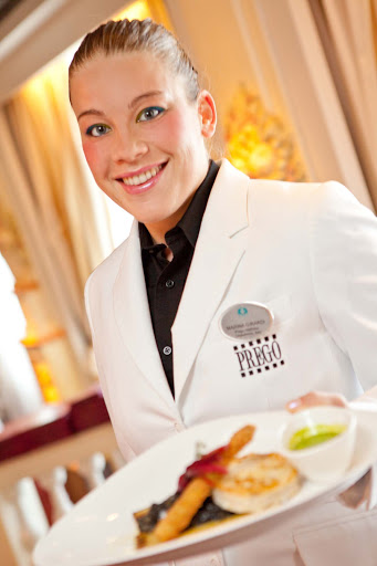 Culinary-Experiences-Prego-Waiter - Trust Prego's attentive waiters to take care of you while you dine on the Crystal Symphony.
