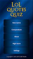 Screenshot of LoL Quotes Quiz