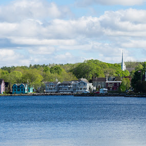 Mahone Bay by Steve Hall - City,  Street & Park  Vistas ( nova scotia, mahone bay )