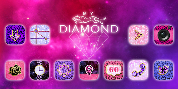 My Diamond GO Launcher Theme- screenshot thumbnail