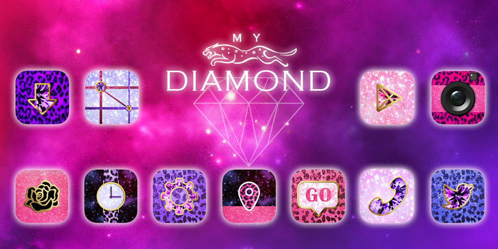 My Diamond GO Launcher Theme- screenshot