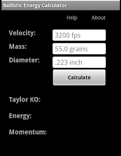Ballistic Energy Calc- screenshot thumbnail