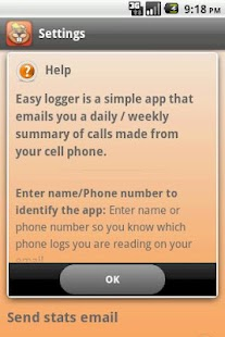 Easy Call and Texts Logger - screenshot thumbnail