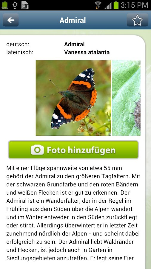 Natur erleben- screenshot