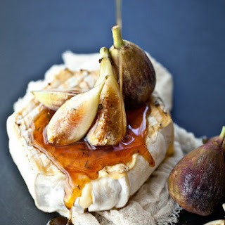 Grilled Soft Cheese, Thyme Honey and Fresh Figs.