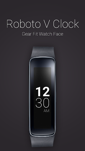 Roboto V Clock for Gear Fit