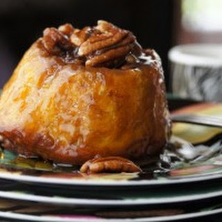 Pumpkin Sticky Buns with Pecan Bourbon Caramel Goodness