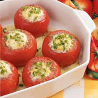Corn Pudding Stuffed Tomatoes