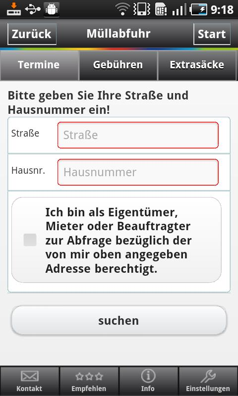 Stadtreinigung Hamburg - screenshot