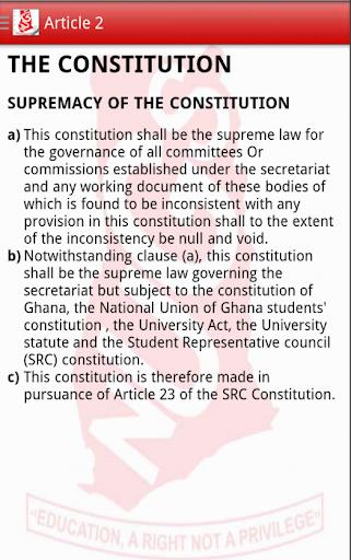 NUGS-KNUST Constitution