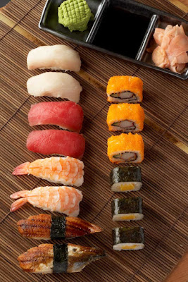 Fresh sushi at Celebrity Cruises's specialty restaurant Silk Harvest.