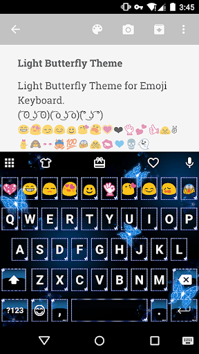 Light Butterfly Emoji Keyboard