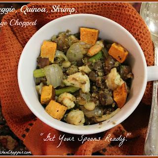 Pesto, Veggie, Quinoa, Shrimp, Mélange Chopped