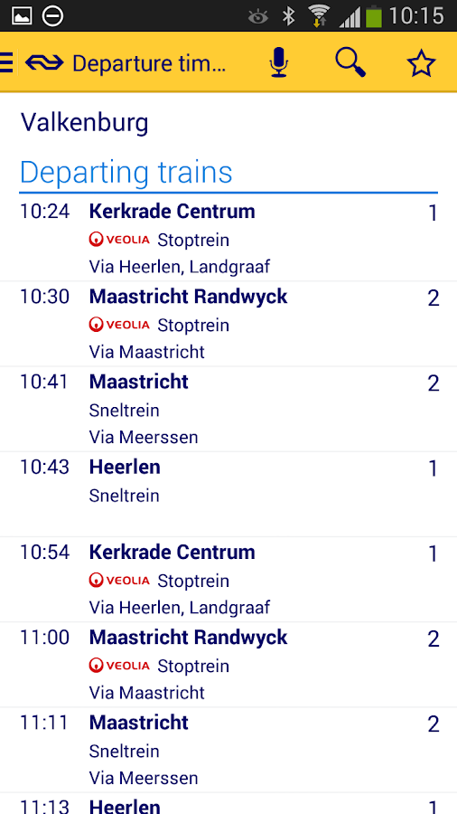NS Reisplanner Xtra - screenshot