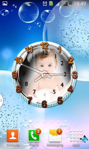 My Photo Clock Live Wallpaper