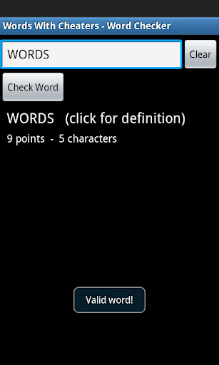 Words With Cheaters for PC