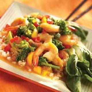 Mandarin Shrimp and Vegetable Stir Fry.