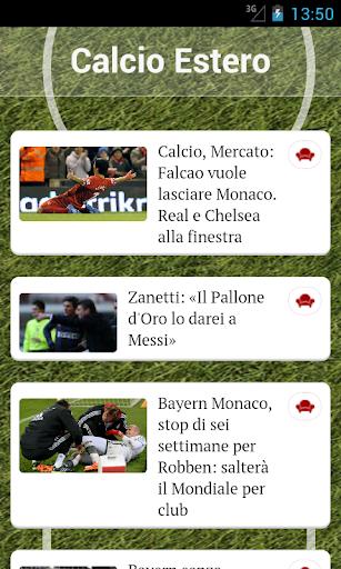 Calcio Estero News